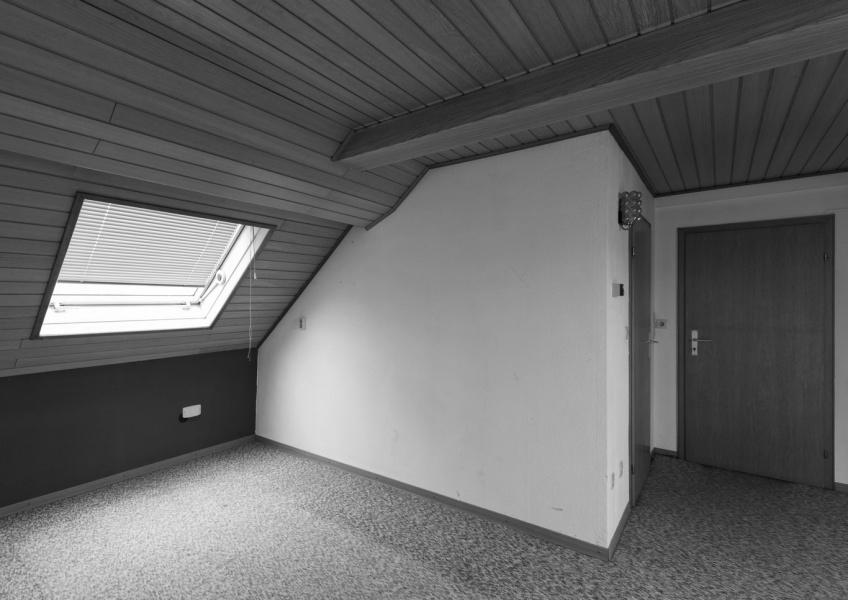 Dachgeschoss vor der Sanierung