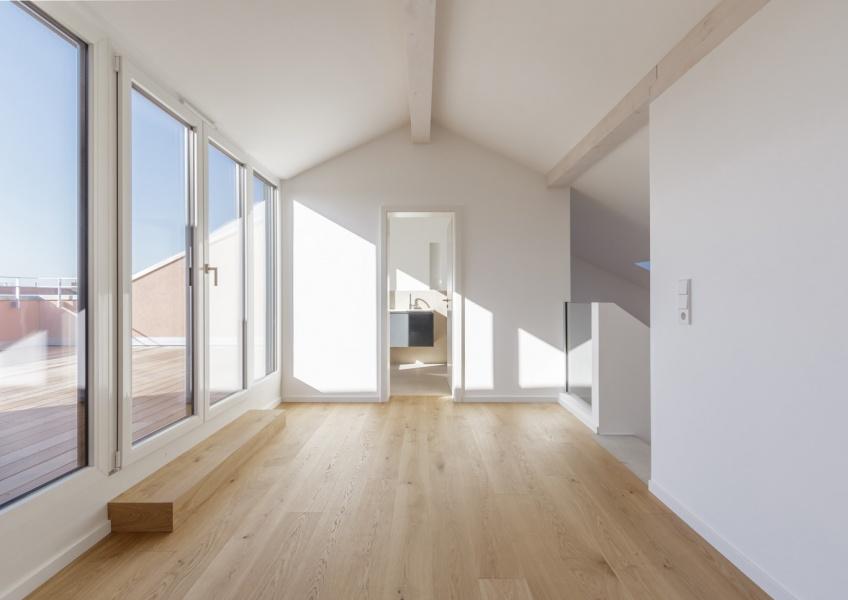 zentraler Flur im Dachgeschoss