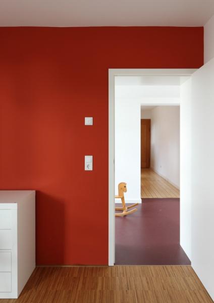 Blick aus einem neuen Kinderzimmer