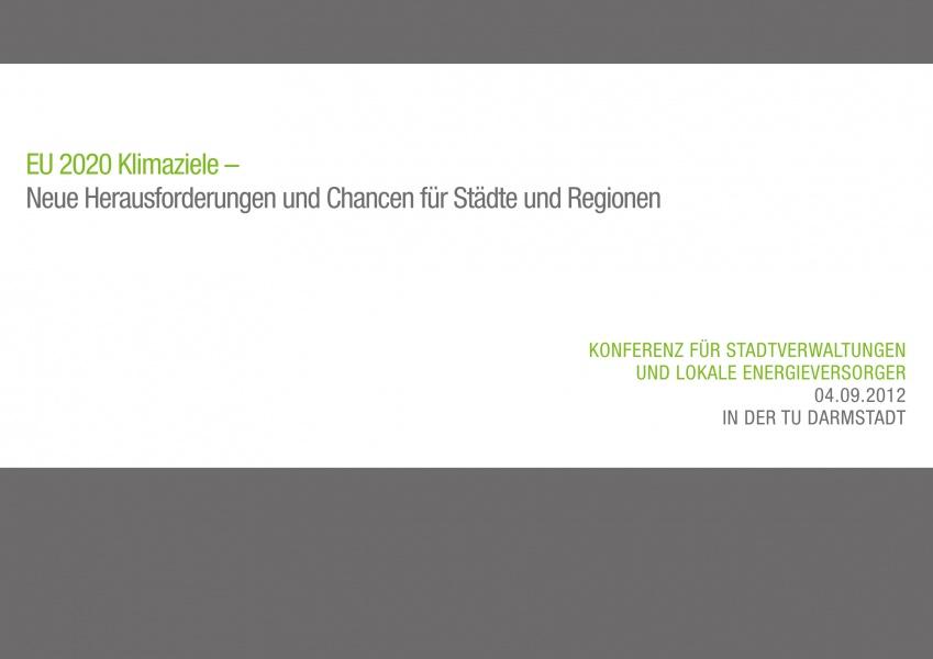 """Flyer Konferenz """"EU 2020 Klimaziele"""""""