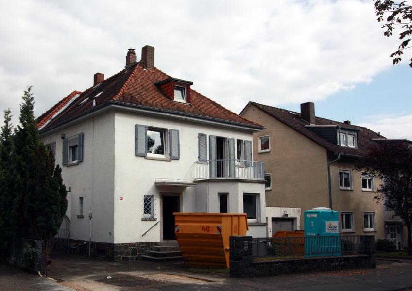 Baubeginn Zweifamilienhaus Darmstadt