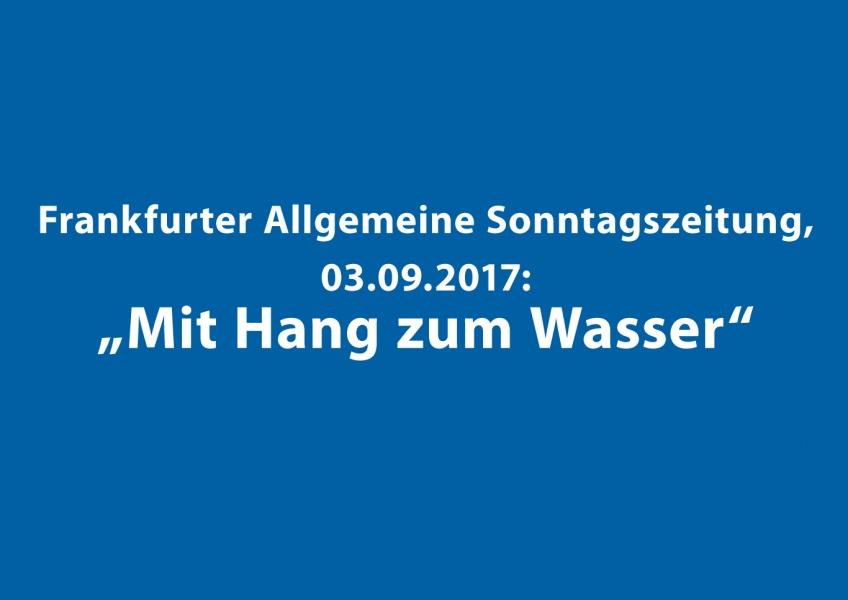 Artikel zum Neubau in Essenheim in der Frankfurter Allgemeinen Sonntagszeitung