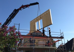 Anbau Arheilgen - Errichtung Holzbau
