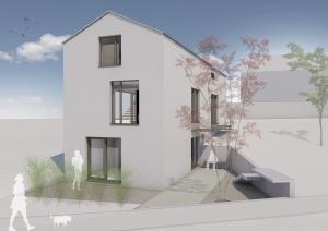 Visualisierung Neubau Einfamilienhaus Essenheim