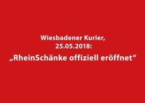 Artikel zur Eröffnung der RheinSchänke im Wiesbadener Kurier