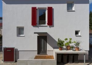 Südfassade mit mediterraner Anmutung